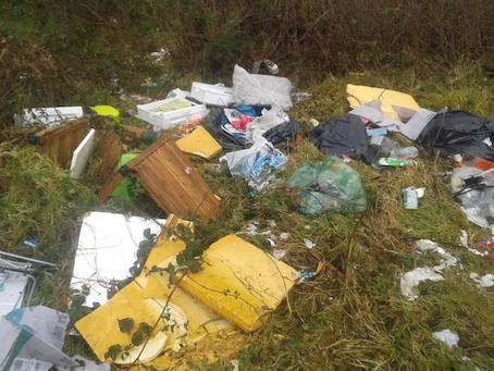 Some of the illegal rubbish dump din the Doneyloop area.