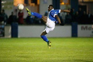 Tagbo was on the scoresheet again for Harps. Pic by Gary Foy, newsandsportfiles