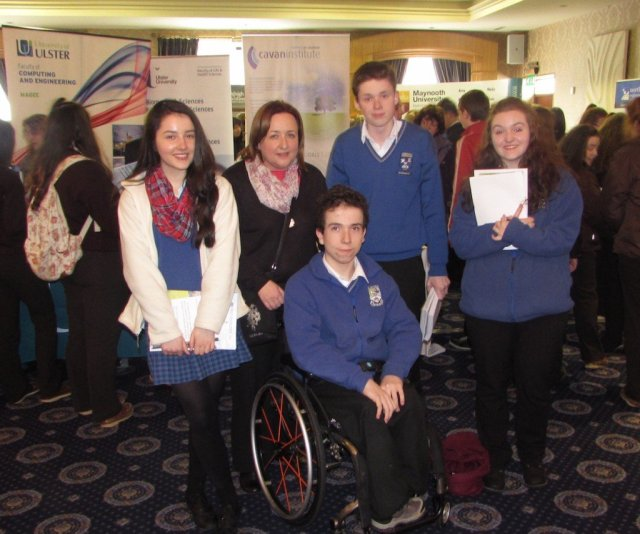 Colaiste Colmcille, Ballyshannonb students pictured with their Guidance Counsellor Ms Mairead Mc Gurren