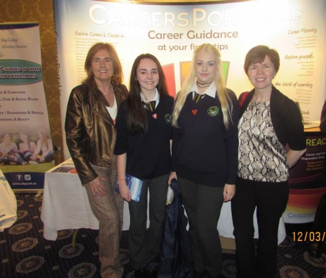 Crana College students pictured with their Guidance Counsellors Ms Mary Galbreith and Ms Anne Mc Elhinney