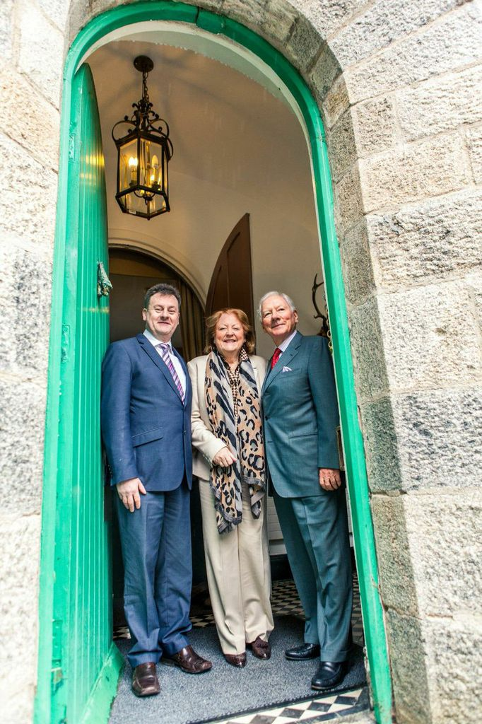 Chief executive of Donegal County Council Seamus Neely along with Gay Byrne and his wife Kathleen Watkins.