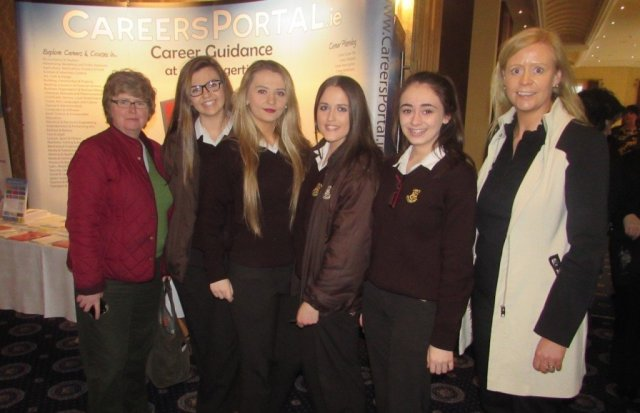 Loreto Convent, Letterkenny students pictured with their Guidance Counsellors Ms Brid Mulhern and Ms Karen Crowe