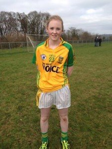 Eimear Gallagher starred for Donegal U16 girls in their victory over Down.