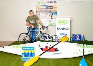 Neil Mc Gee - 3 time GAA All Star , International Rules player and Donegal GAA player of the Year ....launching the WAAR.ie event recently in the Lower Rosses.