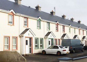 The entire row of houses in Falcarragh is up for sale for just €175,000.