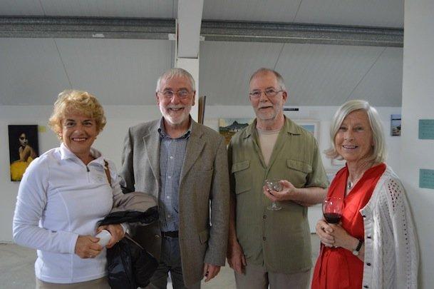 New Size Bernadette Samson, Jack Brereton, Artist Martin Dorgan and Laura Cherubini at the exhibition