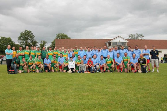 Pic The Players who took part in the Gerarad Monaghan Charity Match in aid of Pieta House