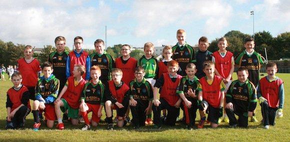 Team 1 at Crana College's Gaelic Blitz