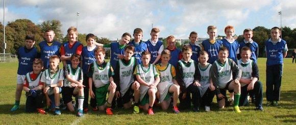 Team 3 at Crana College's Gaelic Blitz