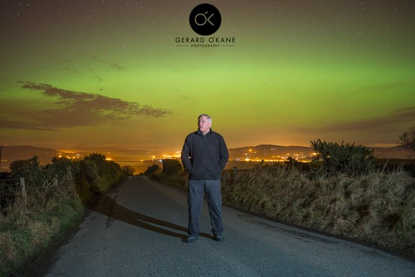 Gerard O'Kane's stunning image this evening on the Donegal-Derry border