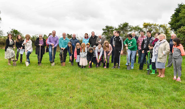 Committee and members of the Donegal SPCA, turning the sod at the new Animal Rehabilitation Centre site at Ballyare.