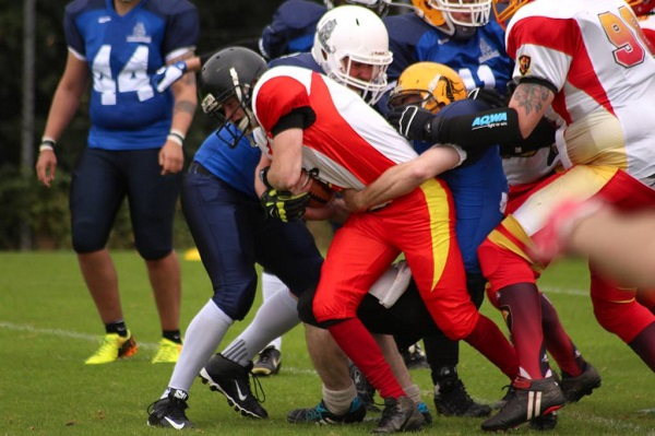 Mullan drives for the end-zone