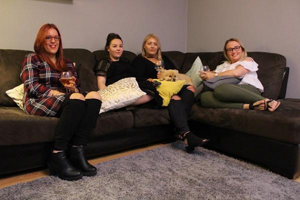 Cabra girls Jamie, Lindsay, Ashley and Grainne