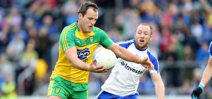 Donegal denied victory by late Monaghan penalty but still very much in the hunt with draw