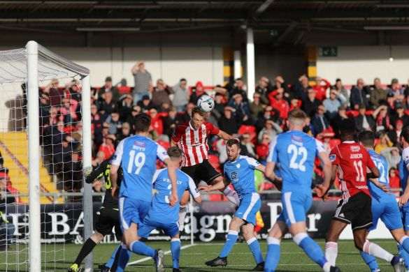 Listen: Declan Devine hails 'excellent' night for Derry City