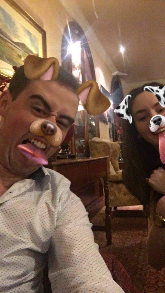 Snapchat fun with Ruairi and Megan