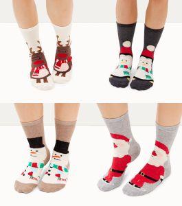 New Look 4 Pack Christmas Socks €7.99