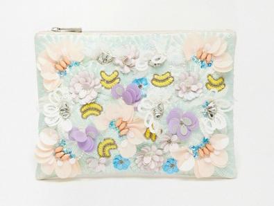 ASOS Metallic Occasion Floral Clutch Bag €23.33
