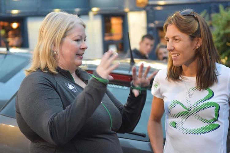 Teresa with Olympian Sinead Jennings