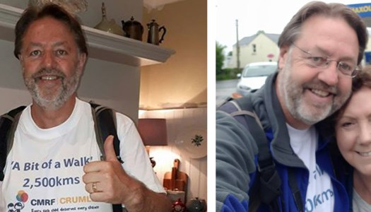Man says goodbye to wife to go on 'A Bit of a Walk'