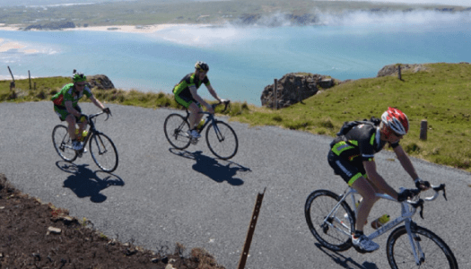 Inish Cycling Club raise €3,500 for Donegal Cancer Bus