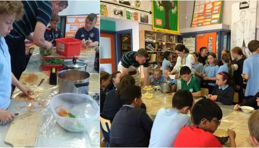 Green-thumbed Naomh Fiachra students make delicious meal from their garden!