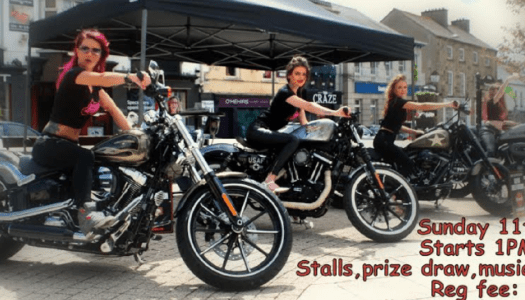 Showcase your motorbike and go for a run to fundraise for these two great causes