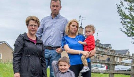 Mothers live in fear of foul sewage seeping through family estate