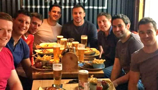 Tommy Bowe turns heads on a night out in Donegal