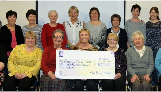 Magheroarty Women's Group raise over €800 for Majella's Cups Against Cancer appeal