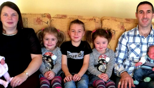 Couple who welcomed second set of twins receive practical gift just in time for Christmas!