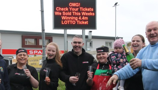 A lucky local is now €4.4million richer