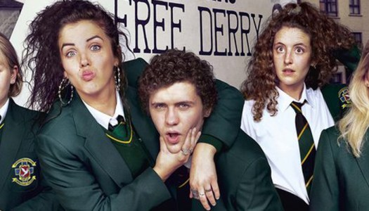 Derry Girls 'buzzing' to be back filming in Derry