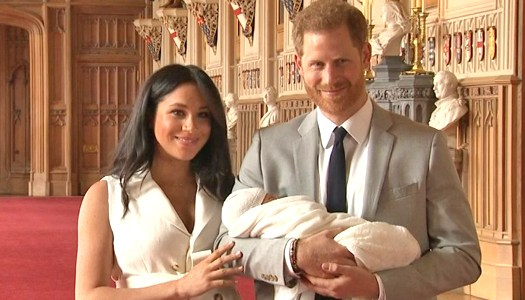 Prince Harry and Meghan introduce new baby boy to the world