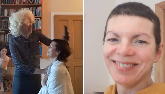 Donegal woman shaves head for a new lockdown look – live on Facebook!