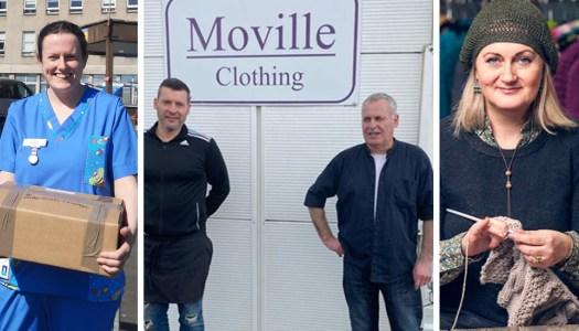 Edel MacBride's #PledgeScrubs campaign wins national award for Moville