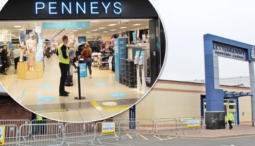 Eager shoppers queue for Penneys reopening