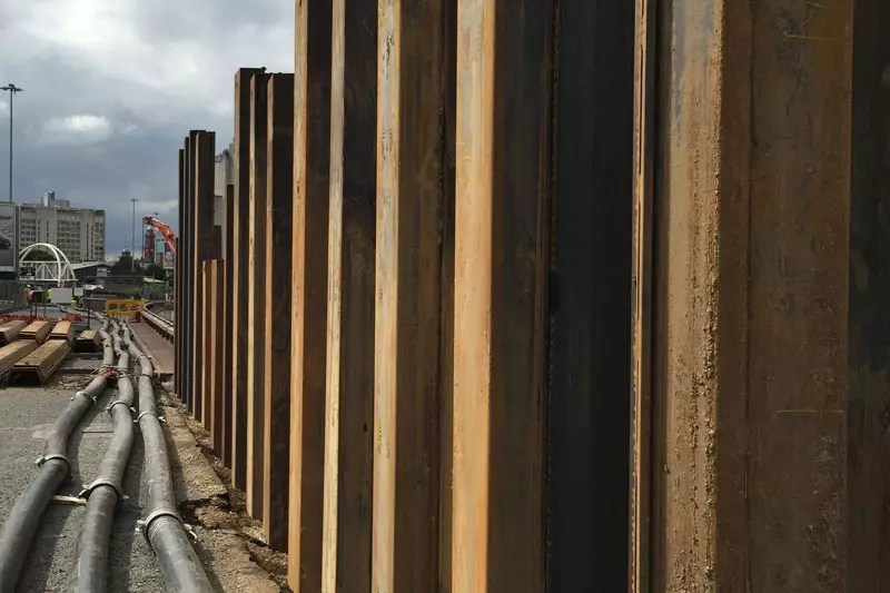 Sheet piling for protective barriers