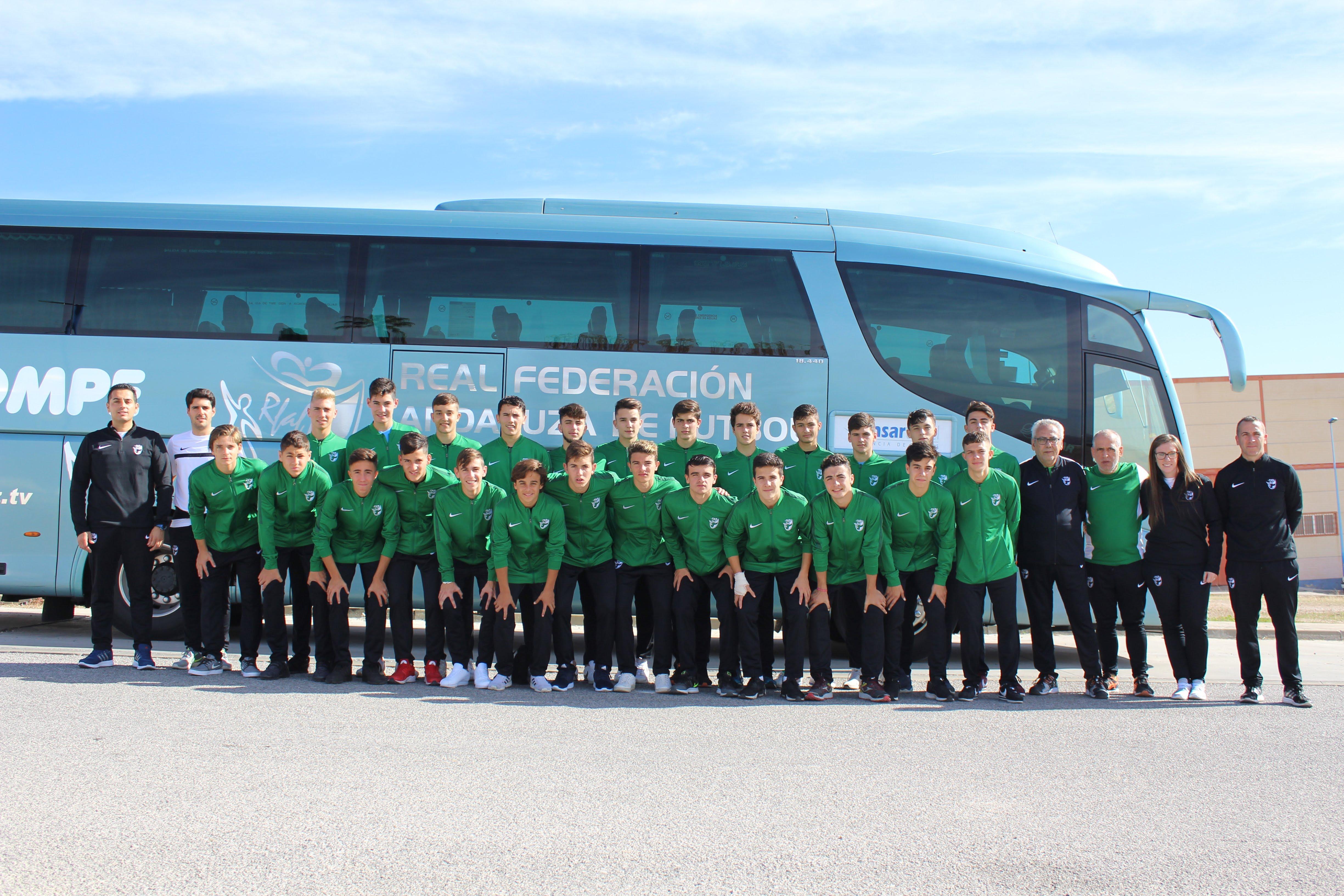 Fotos de la concentración selección andaluza de fútbol sub 16