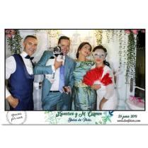 fotomaton vintage en boda de plata