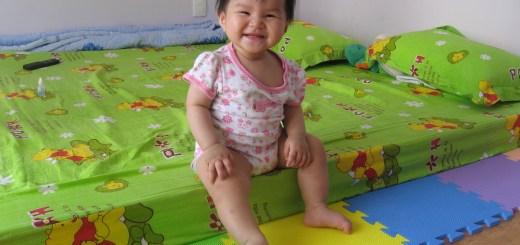 Minh An ở nhà bà nội tháng 5/2008