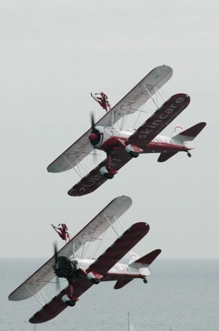 Airplanes with wing walkers