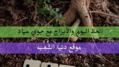 حظ الأبراج اليوم الثلاثاء 6/7/2021 جوي عياد   أبراج الفلكية 6/تموز/2021
