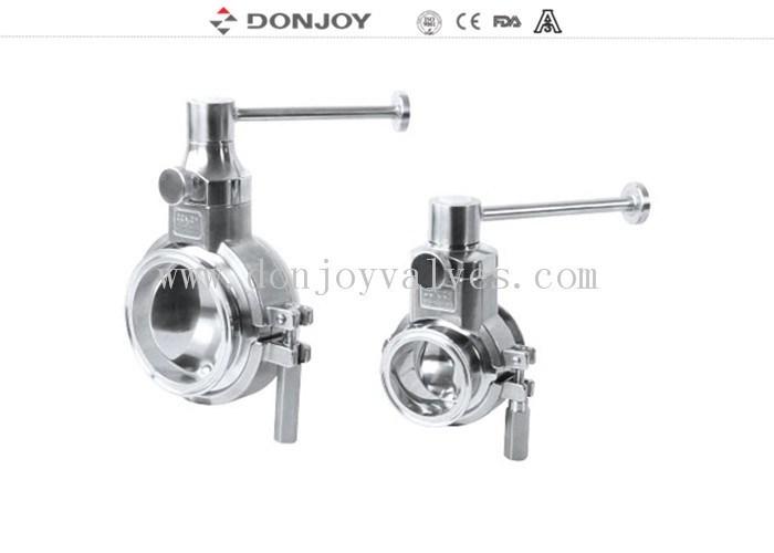Sanitary grade manual butterfly valve multi position