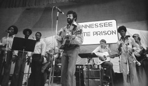 Country western star Sonny James performs at Tennessee State Prison in 1977 at Nashville. (AP Photo)