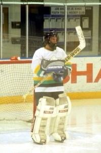 Reeves playing Beer League hockey