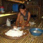 Grating Kamoteng Kahoy (Cassava)