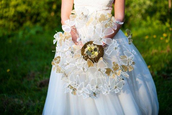 Bouquet da sposa originali senza fiori 7 idee fai da te  DonnaD