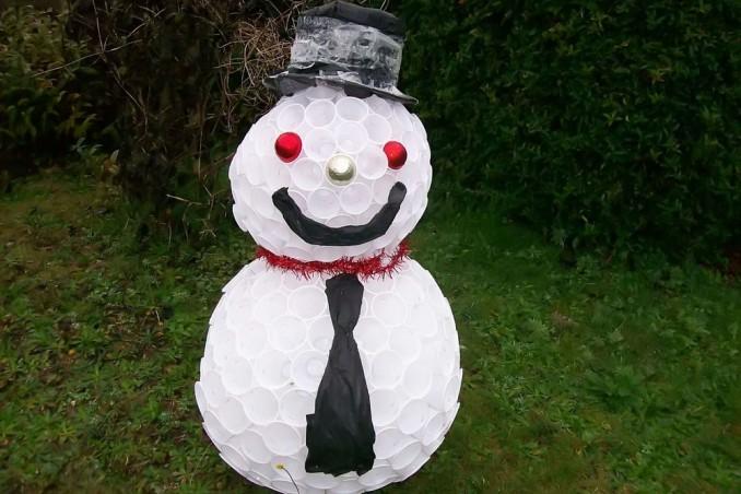 Pupazzo Di Neve Fai Da Te Con Bicchieri Di Riciclo Donnad