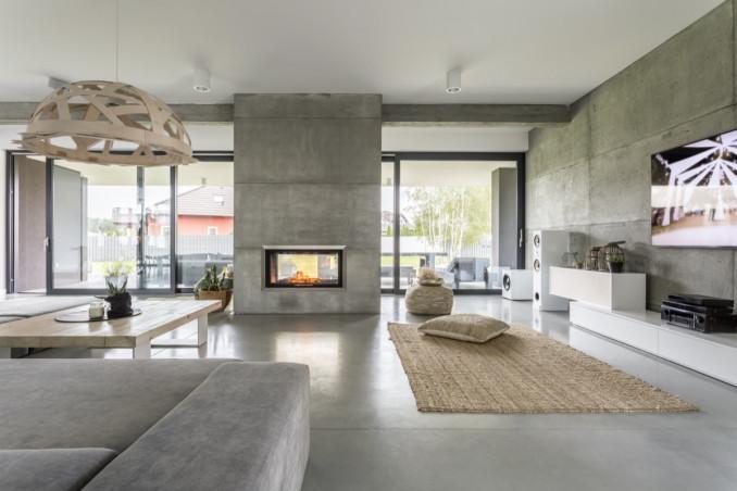 Esempio di soggiorno moderno con camino. Arredamento Moderno Per Un Salotto Con Camino Donnad